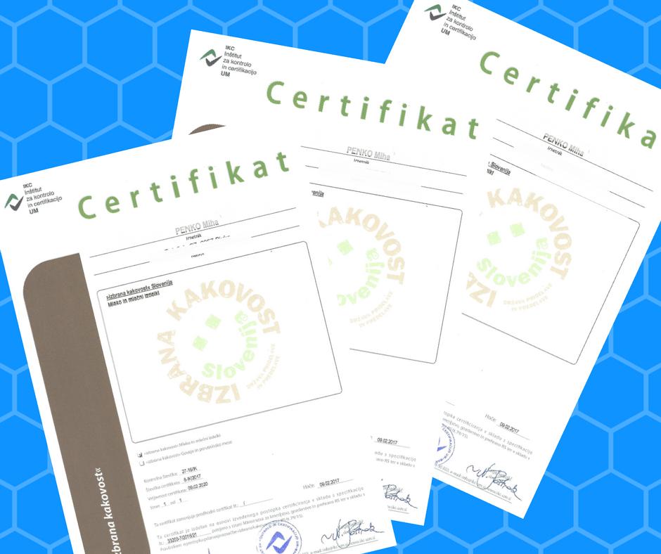 Certificirani proizvajalci v shemi izbrana kakovost